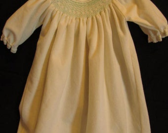 Smocked Baby Gown
