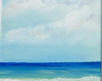 Original Oil Painting - Beach Painting - Seascape - Sea  - 8 x 10