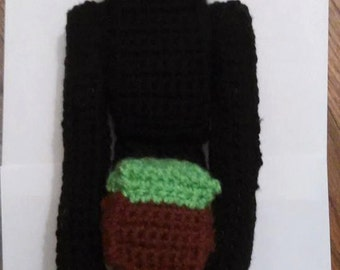 Amigurumi Crocheted MineCraft Enderman Doll Hand made Collectible 13 in.tall