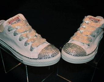 Custom Rhinestone Converse Shoes