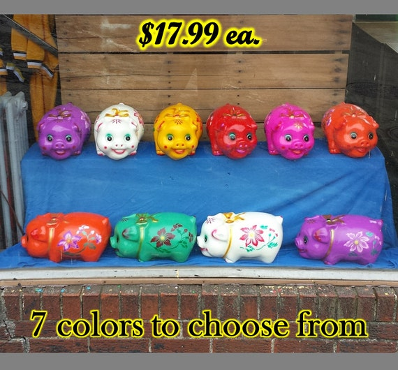 Large piggy bank jumbo big giant chalkware coin by bloomscutrate - Jumbo piggy banks for adults ...