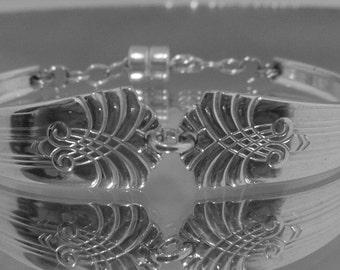 """Spoon Bracelet""""Vogue"""" Silverware Bracelet Vintage Spoon Handles SilverJewelry Handmade Christmas Gift Wedding Gift- Fork Jewelry-216"""