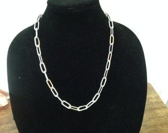 Sterling silver heavy classic link chain