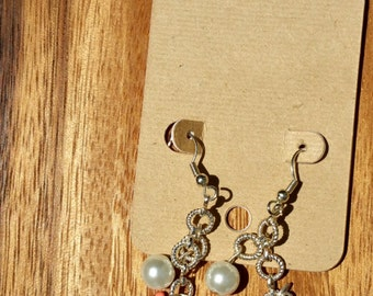 Pearl, Turquoise, Coral Drop Earring