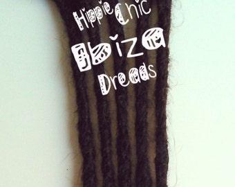 5 Clip-in Human hair dread extension - Dark brown