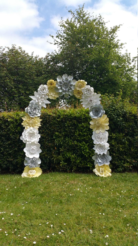 paper flower arch wedding arch flower arch wedding decoration venue dcor custom order silver ivory dolomite