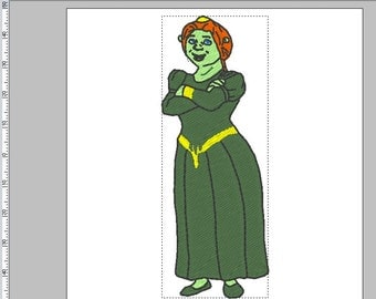 Fiona from Shrek Embroidery Design in PES+3 formats