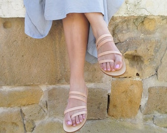 Handmade Greek style Leather Sandals  - More colours available