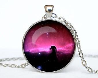 Horsehead Nebula necklace nebula pendant Galaxy jewelry Universe pendant