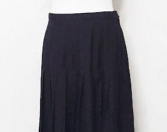 BLOW OUT SALE- Women's Vintage 1950's Rockabilly Skirt, Black Pleated Skirt