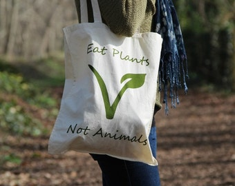 Vegan/Vegetarian/Veggie Tote Bags (Fairtrade Organic Cotton)