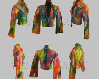 HAND PAINTED JACKET womens jacket jeans womens clothing art jackets bohemian clothing hippie clothing chic boho clothing jackets for wedding