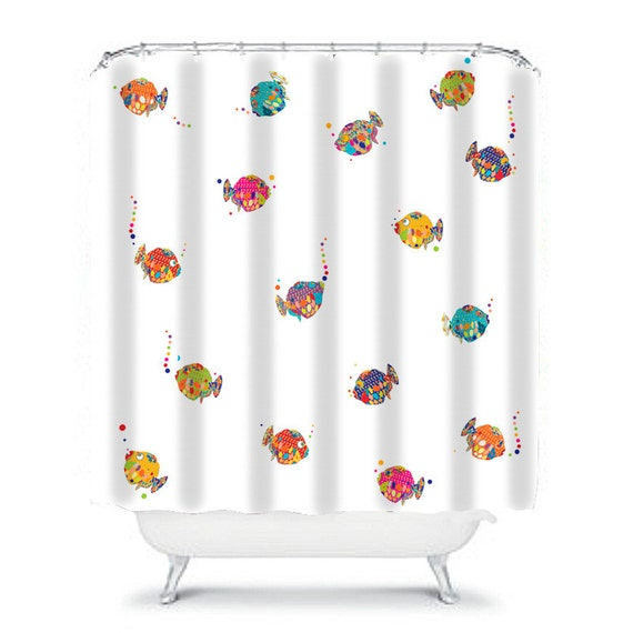 kids fish bathroom set shower curtain fish shower curtain bathroom decor 18992