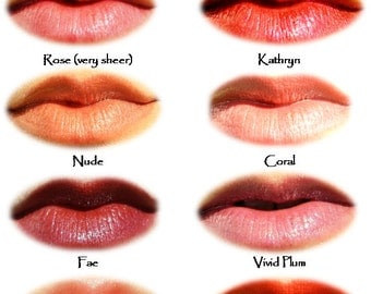 LIPGLOSS with certified organic ingredients (8 color choices)