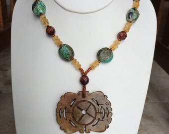 Citrine, Turquoise, Red Tiger's Eye