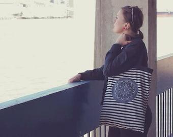 Stripy Mandala Tote Bag.