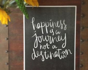 Happiness is a Journey Print