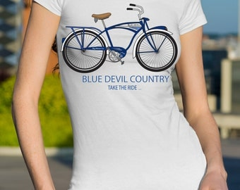 His And Hers Duke Blue Devil t-shirts Favorite college teams T-shirts,Duke T-shirts,Blue Devil T-shirts,College team t-shirts,bike shirts.