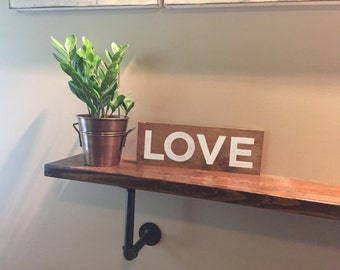 Wood Love Sign Home Decor