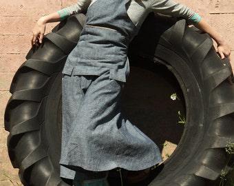Artist Apron - Indigo: Eco-Friendly Natural Hemp Clothing