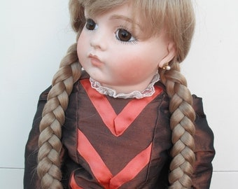 Blonde Dolls wig with Plaits fits head size 15 inches