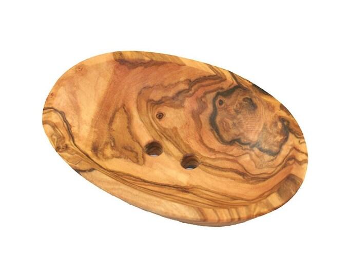 Mini SOAP dish olive wood 9 cm wooden unique
