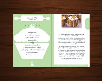 A5 SIZE - Everyday Recipe Book, Digital Template, Cookbook Tracker, Daily Meal Planner, Cooking Food Blank Journal, Gift for Moms & Chef