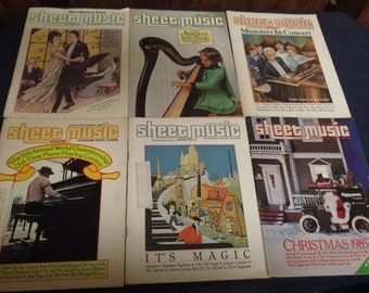 8 Issue Set, 1985 Sheet Music Books/Magazines, Vintage, Themed, 70+ Songs, Standard Piano/Guitar/vocal