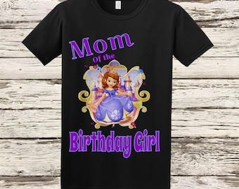 Sofia the First Mom Shirt - Sofia Mom Birthday Shirt