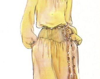 Vogue Bill Blass vintage sewing pattern 2008 pintuck detail dress - Size 12