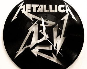 Vinyl Wall Clock Etsy