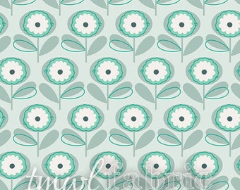 Woven Fabric - Littlest Playful Petals Menthe - Half Yard +