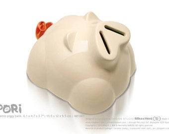Handmade piggy bank | Ceramic piggy bank | slots on nose | Desktop accent | gift for kids | Pori