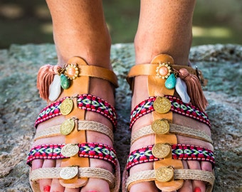 Traditional Gladiator leather sandals