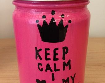 Soy Candle - KEEP CALM - Custom Candle - Custom Design - All Natural - Handmade Soy Candle - 12 oz