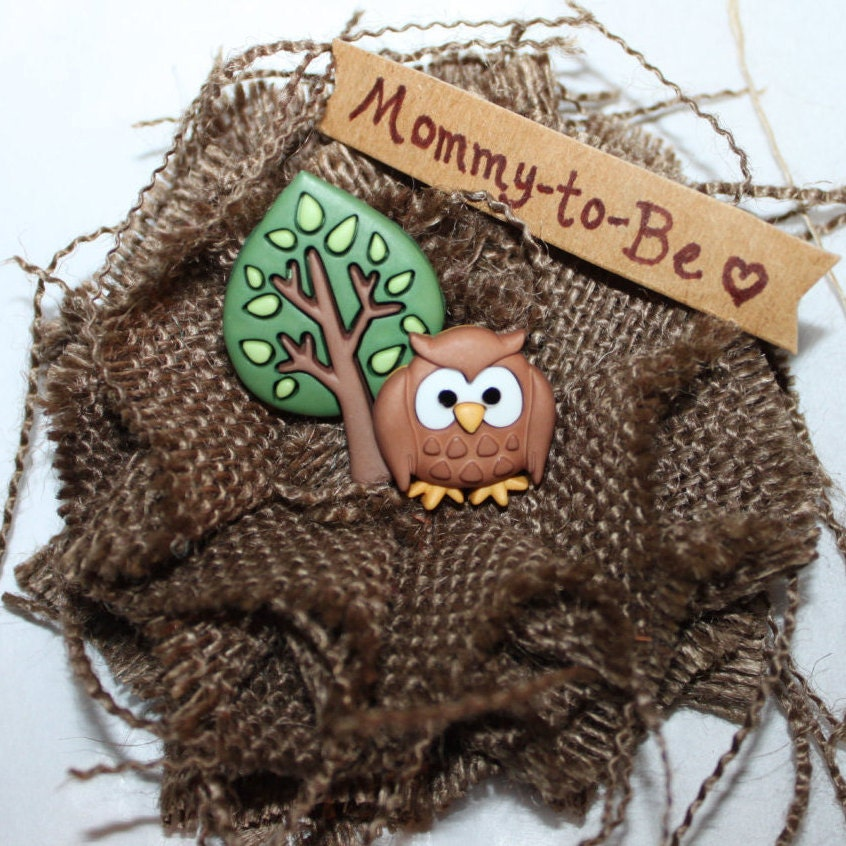 baby shower pin owl mommy to be baby shower corsage owl mom