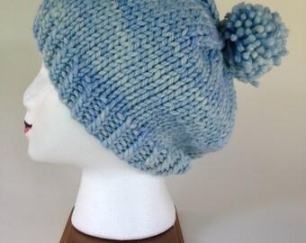 Light Blue Merino Wool hat
