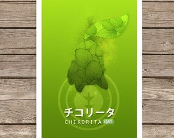 Pokemon: Chikorita Print