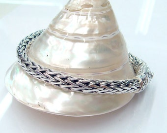 bracelet 925 sterling silver woven chain unique style