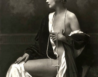 1920's Era Classic Image Ziegfeld Follies Star Alice Wilkie-Elegant Black and White print  - Multiple Sizes [730-040]