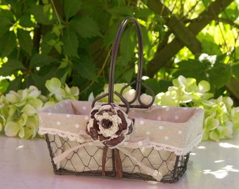 Rustic Chic Flower Girl Basket