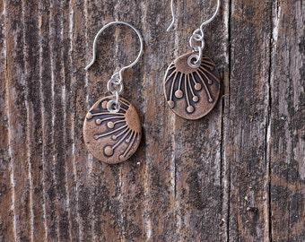 Bronze Metal Clay Earrings - EB104