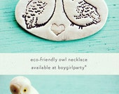 Owl Necklace, Handmade Sterling Silver Owl Jewelry Owl Pendant