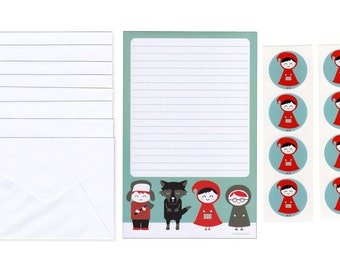 Little Red Riding Hood Stationery Set