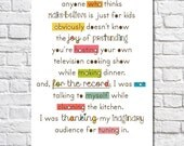 Funny Cooking Art Kitchen Artwork Typography Print Colorful Kitchen Decor Chef Art Gift For Cook Small Kitchen Wall Art Cooking Quote Poster