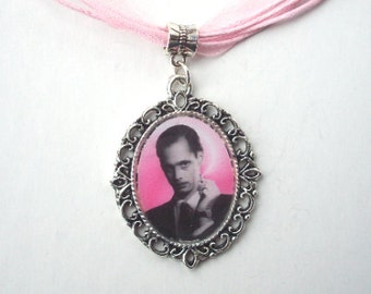 Smoking Pink JOHN WATERS Cameo Charm Necklace