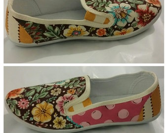 Custom painted shoes for a Size 7