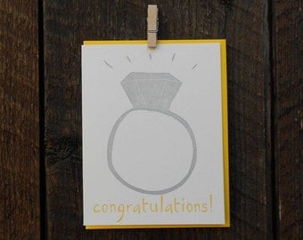 Congratulations Letterpress Card