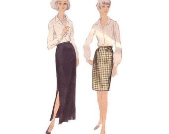 60s uncut Vogue Pencil Skirt Pattern skirt pattern 38-30-40 madmen medium waist 30 vogue 6791