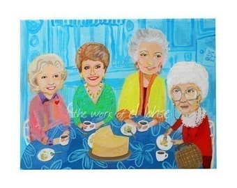 Ode to Rose, Blanche, Dorothy, Sophia and the Cheesecake • Thank You For Being a Friend • limited edition giclee art print • new 11x14 size!